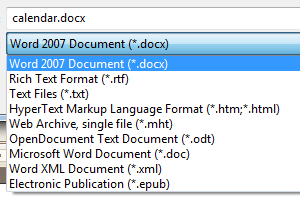 Dual Writer supports all popular word processor file formats.