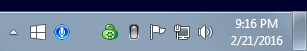 The Shared Speech Recognizer icon in the on state