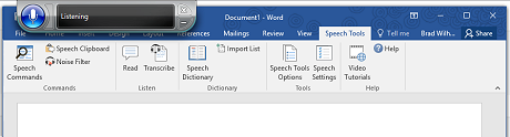 Speech Tools Add In for Microsoft Word gives you the dictation features you've been missing.