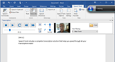 Speech Tools gives you a complete transcription solution inside Microsoft Word.