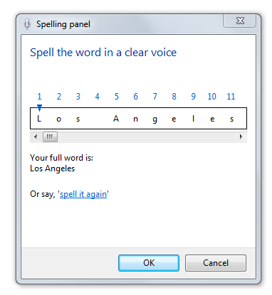 The Spelling Correction Panel in Microsoft Word
